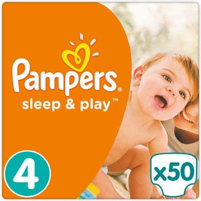PAMPERS Sleep&Play 4 MAXI 50ks (7-14kg) - jednorázové pleny