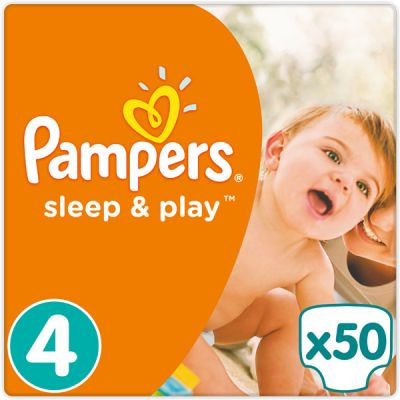 PAMPERS Sleep & Play 4 MAXI 50ks (7-14kg) - jednorazové plienky