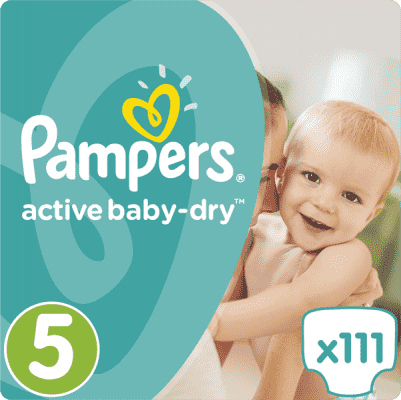 PAMPERS Active Baby 5 JUNIOR 111ks (11-18 kg) MEGA Box - jednorazové plienky