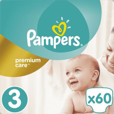 PAMPERS Premium Care 3 MIDI 60ks (5-9 kg) - jednorázové pleny