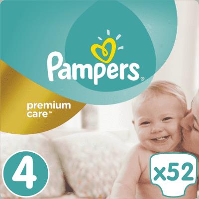 PAMPERS Premium Care 4 MAXI 52 ks (8-14 kg) - jednorazové plienky