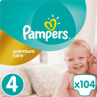 PAMPERS Premium Care 4 MAXI 104ks (8-14 kg) MEGA Box - jednorázové pleny