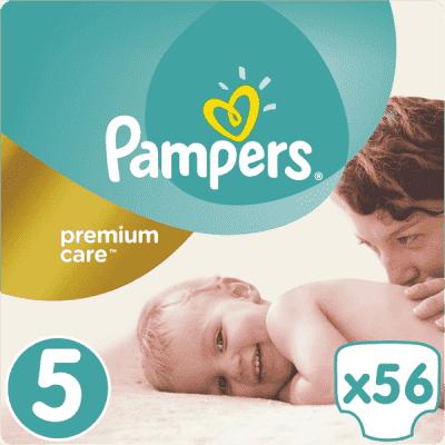 PAMPERS Premium Care 5 JUNIOR 56 szt. (11-18 kg), JUMBO PACK - pieluchy jednorazowe