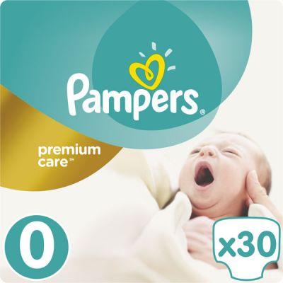 PAMPERS Premium Care 0 NEWBORN 30ks (do 2,5kg) - jednorázové pleny