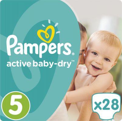 PAMPERS Active Baby-Dry 5 JUNIOR, 28ks (11-18kg) - jednorázové pleny