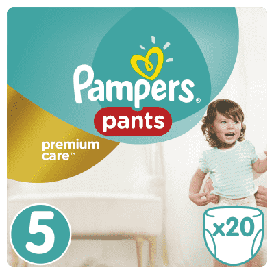 PAMPERS Premium Care Pants 5 JUNIOR 20 ks (12-18 kg) - plienkové nohavičky