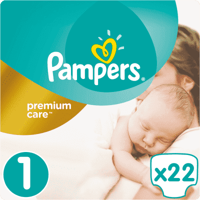PAMPERS Premium Care 1 NEWBORN 22 szt. (2-5kg), CARRY PACK - pieluchy jednorazowe