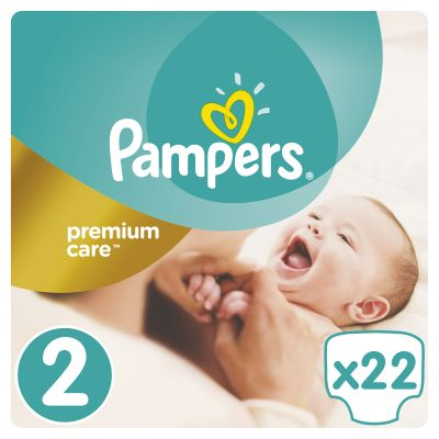 PAMPERS Premium Care 2 MINI 22ks (3-6kg) CARRY pack – jednorázové pleny