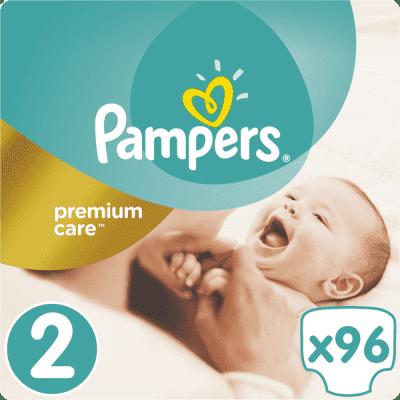 PAMPERS Premium Care 2 MINI 96 szt. (3-6kg), JUMBO PACK - pieluchy jednorazowe