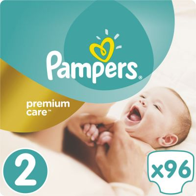PAMPERS Premium Care 2 MINI 96ks (3-6kg) JUMBO Pack - jednorazové plienky