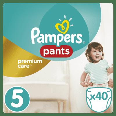 PAMPERS Premium Care Pants 5 JUNIOR 40ks (12-18 kg) - plienkové nohavičky