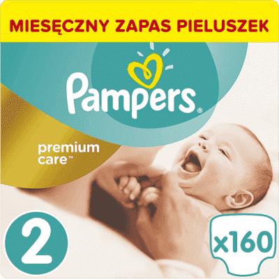 PAMPERS Premium Care 2 MINI 160 szt. (3-6kg), ZAPAS NA MIESIĄC – pieluszki jednorazowe