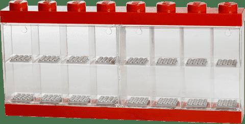 LEGO® Zberateľská skříňka na 16 minifigúriek, červená
