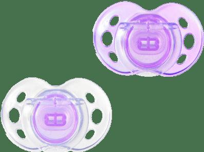 TOMMEE TIPPEE Šidítko CTN silikon Air Style 2ks 6-18m-fialové