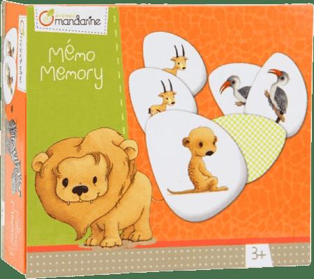 AVENUE MANDARINE Detská hra Memo/Pexeso Zvieratká