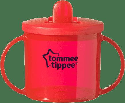 TOMMEE TIPPEE Hrnček dvojuché pre najmenších Basic-červená