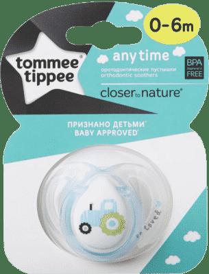 TOMMEE TIPPEE Cumlík CTN silikón Any Time 1 ks 0-6m-chlapec- Rôzne druhy
