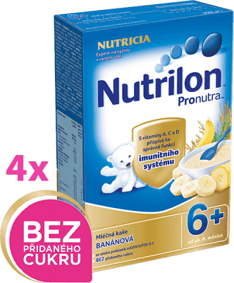 4x NUTRILON ProNutra banánová (225g) - mliečna kaša