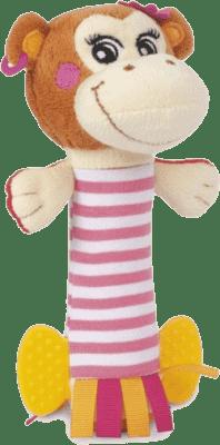 CANPOL Babies Plyšové chrastítko činka PIRÁTI- opice holka