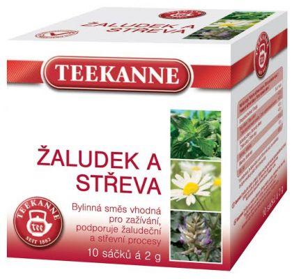 TEEKANNE bylinný čaj - žaludek a střeva, 10 sáčků