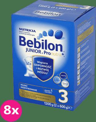 8x BEBILON Junior 3 z Pronutra+ mleko dla dzieci powyżej 12. miesiąca (1200g)