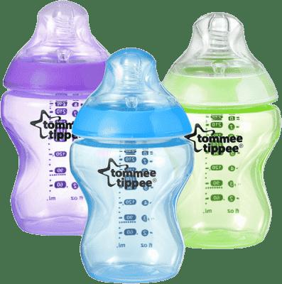 TOMMEE TIPPEE Dojčenská fľaša C2N 260ml, 3ks 0m+ modrá, zelená, fialová