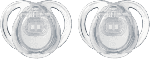 TOMMEE TIPPEE Smoczek uspokajający, silikonowy CTN Any Time (0-6m), 2 szt. Bezbarwny