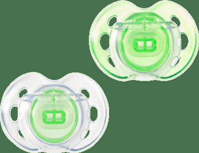 TOMMEE TIPPEE Smoczek silikonowy Air Style, 2 szt, 0-6m. Zielony