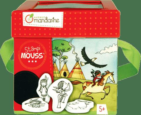 AVENUE MANDARINE Dětská razítka s omalovánkami – Indiánky