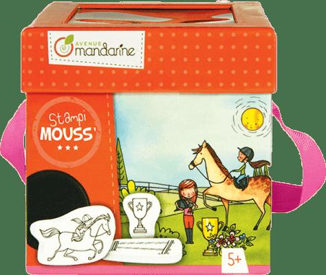 AVENUE MANDARINE Detské pečiatky s omaľovánkami Kone