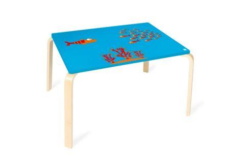 SCRATCH Drewiany dziecięcy stół Rybka