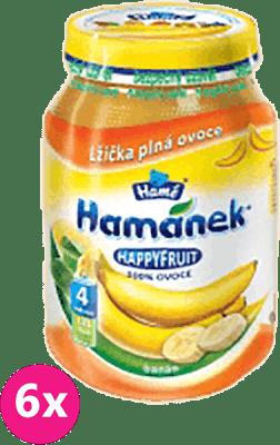 6x HAMÁNEK HappyFruit 100% s banánem (190 g) - ovocný príkrm