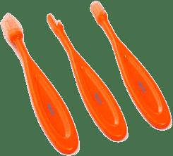 BABY ONO Kartáč na zuby, 3 kusy – oranžová