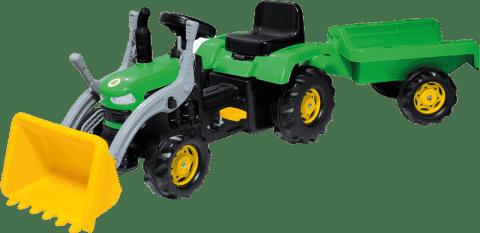BUDDY TOYS Traktor z pedałami z przyczepą i łyżką