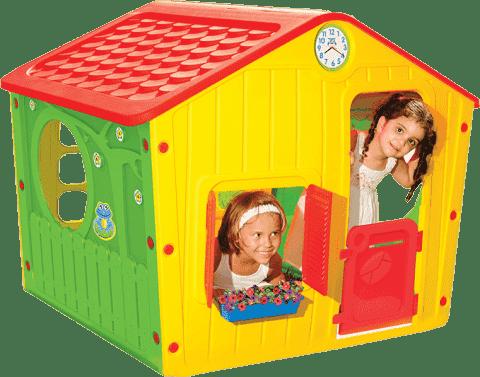 BUDDY TOYS Domeček na zahradu Village červený