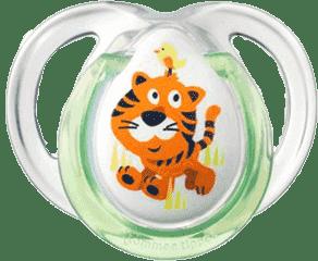 TOMMEE TIPPEE Cumlík CTN silikon Fun 2ks 0-6m-tiger