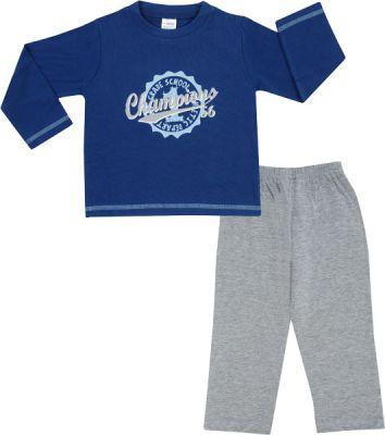 JACKY Pyžamo dvojdielne dlhé, veľ. 98/104 - modrá, chlapček