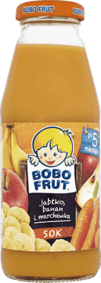 BOBO FRUT 100% sok jabłko, banan i marchewka (300ml)
