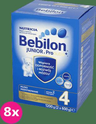 8x BEBILON Junior 4 z Pronutra+ mleko dla dzieci 2. roku życia (1200g)