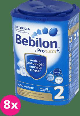 8x BEBILON 2 z Pronutra+ mleko dla niemowląt po 6 miesiącu (800g)