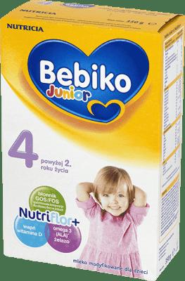 BEBIKO Junior 4 NutriFlor+ (350g) - Mleko modyfikowane powyżej 2 roku życia