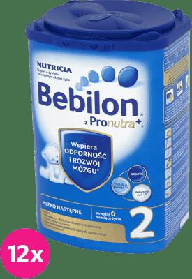 12x BEBILON 2 z Pronutra+ mleko dla niemowląt po 6 miesiącu (800g)