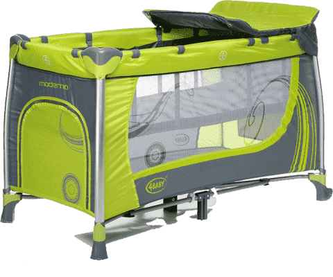 4BABY Cestovná postieľka Moderno - zelená