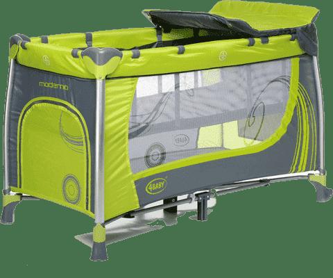4BABY Łóżeczko podróżnicze Moderno – zielone