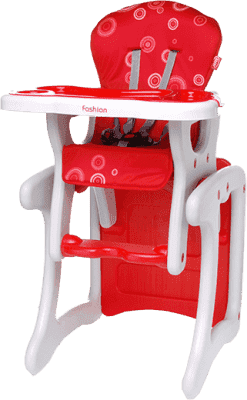 4BABY Židlička Fruity fashion – červená