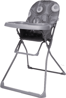 4BABY Židlička Flower – šedá