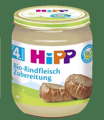 HIPP BIO Hovězí maso (125 g) - masový příkrm