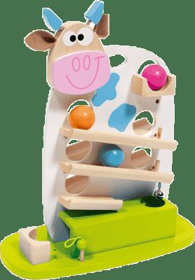 SCRATCH Kuličková dráha kravička