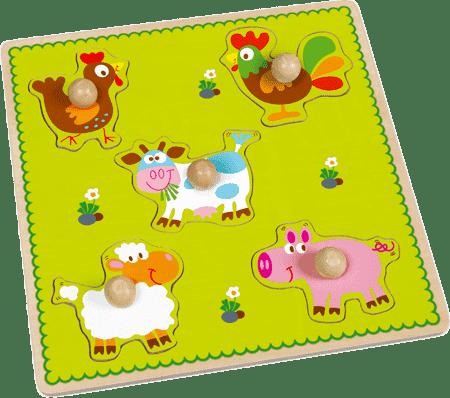 SCRATCH Vkládací puzzle Farma
