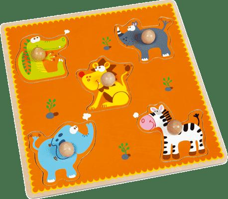 SCRATCH Vkládací puzzle Afrika